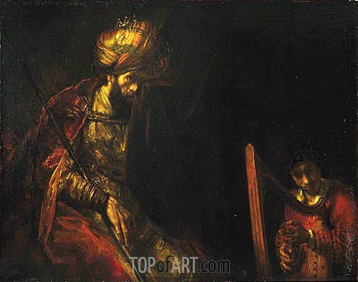 Saul and David, c.1650/55  | Rembrandt | Painting Reproduction