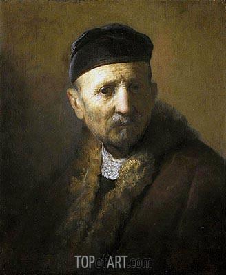 Study of a Man's Head, c.1630/31 | Rembrandt | Gemälde Reproduktion
