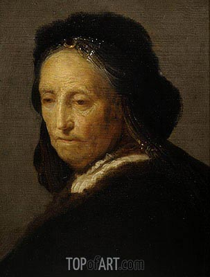 Rembrandt | Study of an Old Woman (Rembrandt's Mother), c.1630/35