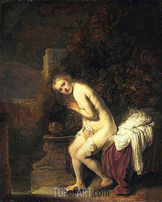Susanna, 1636 | Rembrandt | Gemälde Reproduktion