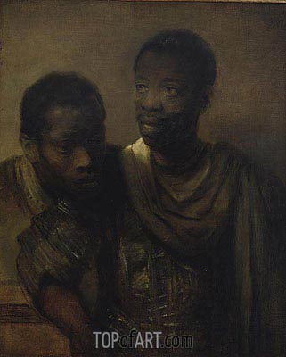 Two Negroes, 1661 | Rembrandt | Painting Reproduction
