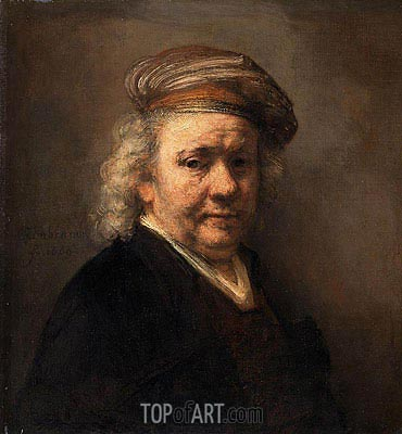 Self Portrait, 1669 | Rembrandt | Painting Reproduction