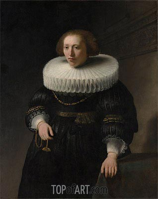 Portrait of a Woman, probably a Member of the Van Beresteyn Family, 1632 | Rembrandt| Painting Reproduction