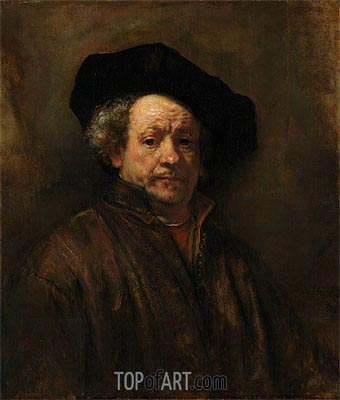 Self Portrait, 1660 | Rembrandt | Gemälde Reproduktion