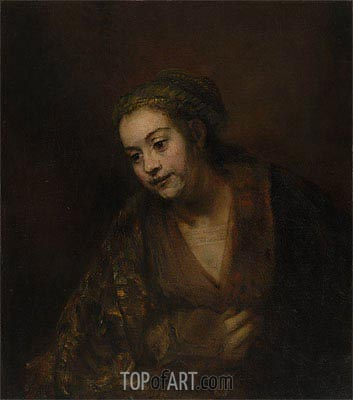 Hendrickje Stoffels, c.1650/60 | Rembrandt| Painting Reproduction