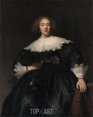 Rembrandt | Portrait of a Young Woman with a Fan, 1633