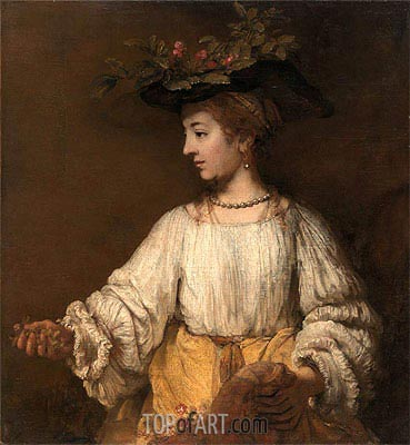 Flora, c.1654 | Rembrandt | Painting Reproduction