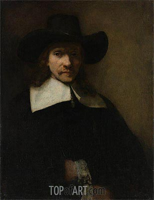 Rembrandt | Portrait of a Man, c.1655/60