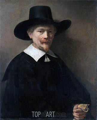 Rembrandt | Portrait of a Man Holding Gloves, 1648