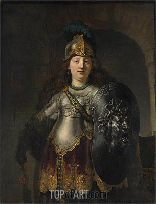 Bellona, 1633 | Rembrandt | Painting Reproduction