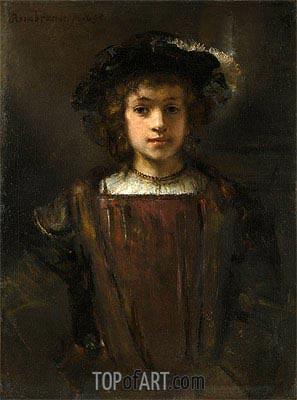 Rembrandt's Son Titus,  | Rembrandt | Painting Reproduction