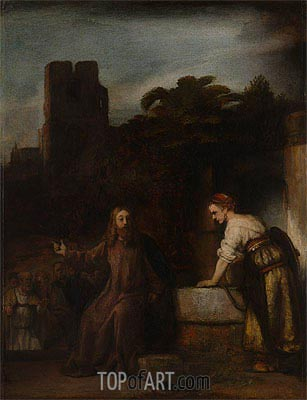 Christ and the Woman of Samaria, 1655 | Rembrandt | Gemälde Reproduktion