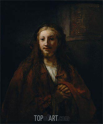 Christ with a Staff, 1661 | Rembrandt| Painting Reproduction