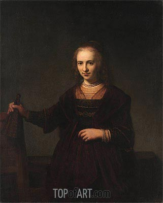 Portrait of a Woman, 1643 | Rembrandt | Painting Reproduction