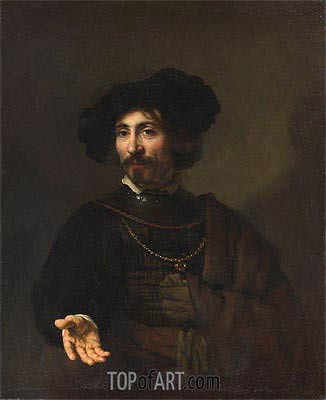 Man with a Steel Gorget, 1644 | Rembrandt| Painting Reproduction