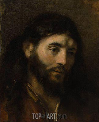 Head of Christ,  | Rembrandt | Painting Reproduction