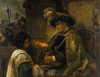 Pilate Washing His Hands, Undated | Rembrandt | Gemälde Reproduktion