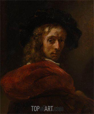Man in a Red Cloak,  | Rembrandt| Painting Reproduction