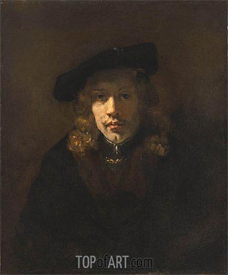 Man in a Beret,  | Rembrandt| Painting Reproduction