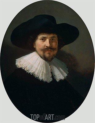 Rembrandt | Portrait of a Man Wearing a Black Hat, 1634