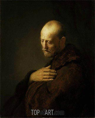 Old Man in Prayer,  | Rembrandt | Painting Reproduction