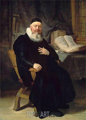 Reverend Johannes Elison, 1634 | Rembrandt | Gemälde Reproduktion