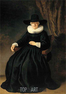 Mevr. Johannes Elison (Maria Bockenolle), 1634 | Rembrandt | Painting Reproduction