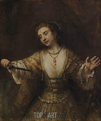 Lucretia, 1664 | Rembrandt | Gemälde Reproduktion