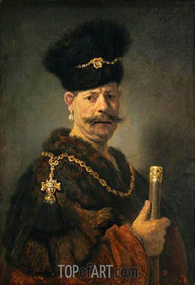 A Polish Nobleman, 1637 | Rembrandt | Painting Reproduction