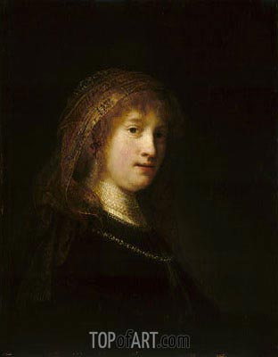 Saskia van Uylenburgh, c.1634/35 | Rembrandt | Painting Reproduction