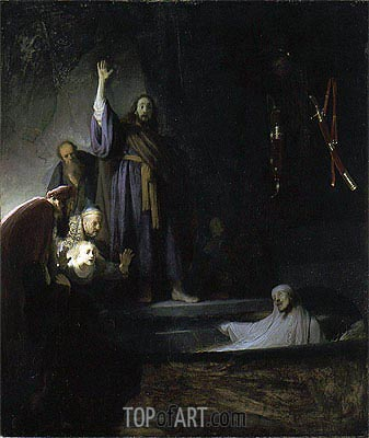 The Raising of Lazarus, c.1630 | Rembrandt | Painting Reproduction
