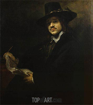 Portrait of a Young Artist, c.1647 | Rembrandt | Painting Reproduction
