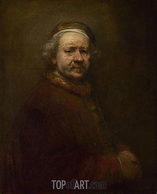 Self Portrait at the Age of 63, 1669 | Rembrandt | Gemälde Reproduktion