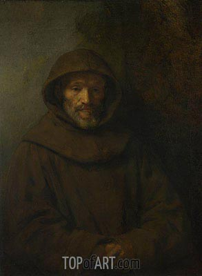 A Franciscan Friar, a.1655 | Rembrandt| Painting Reproduction