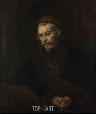 An Elderly Man as Saint Paul, c.1659 | Rembrandt| Painting Reproduction