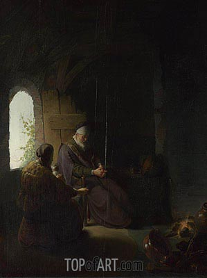 Rembrandt | Anna and the Blind Tobit, a.1630