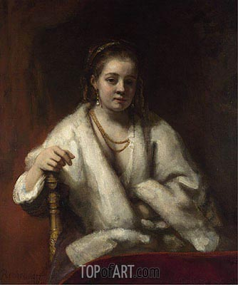 Portrait of Hendrickje Stoffels, 1660 | Rembrandt | Painting Reproduction