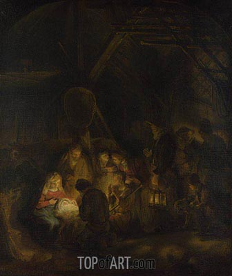 Rembrandt | The Adoration of the Shepherds, 1646