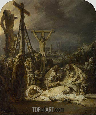 The Lamentation over the Dead Christ, c.1635 | Rembrandt| Gemälde Reproduktion