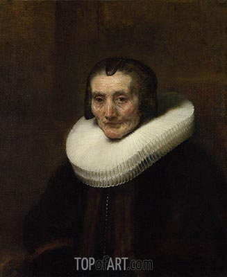 Portrait of Margaretha de Geer, Wife of Jacob Trip, 1661 | Rembrandt| Painting Reproduction