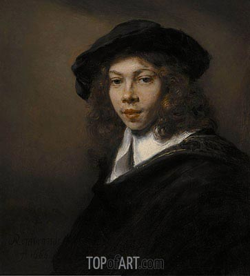 Portrait of a Young Man, 1666 | Rembrandt| Gemälde Reproduktion