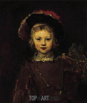 Portrait of a Boy, c.1655/60 | Rembrandt | Gemälde Reproduktion