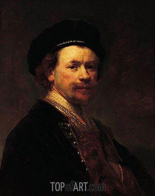 Self-Portrait, c.1636/38 | Rembrandt | Gemälde Reproduktion