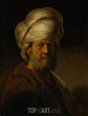 An Oriental, 1635 | Rembrandt| Painting Reproduction