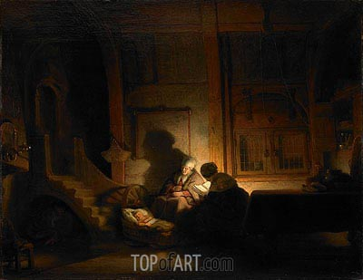 The Holy Family at Night, 1648 | Rembrandt | Painting Reproduction
