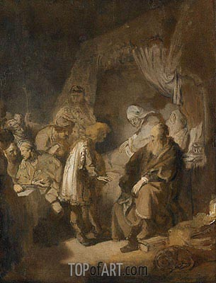 Joseph Tells his Dreams to Jacob, 1633 | Rembrandt| Gemälde Reproduktion