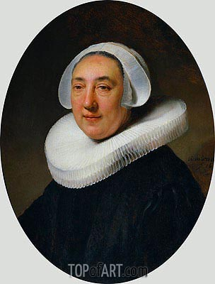 Portrait of Haesje Jacobsdr of Cleyburg, 1634 | Rembrandt| Painting Reproduction