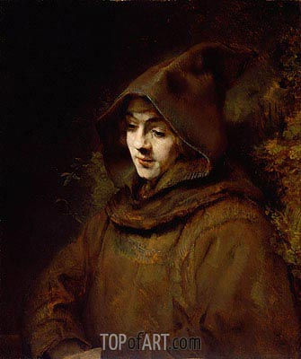 Titus van Rijn in a Monk's Habit, 1660 | Rembrandt| Painting Reproduction