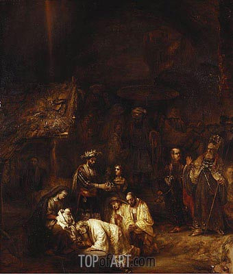 Rembrandt | The Adoration of the Magi, c.1657