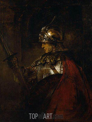 A Man in Armour, 1655 | Rembrandt | Painting Reproduction